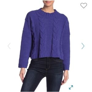 NWT ChenilleCable Mock Neck Sweater Nordstrom Rack